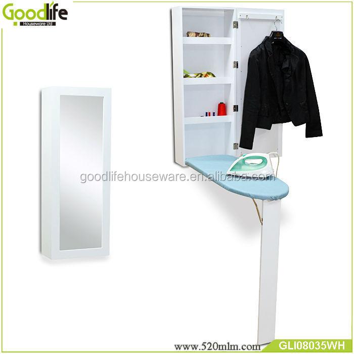 Mont en gros mur en bois table repasser armoire avec miroir planche repasser id de produit - Meuble table a repasser ...