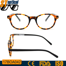 2017 eyeglass wholesale manufacturers in china fashion new model round optical glasses latest round acetate frame