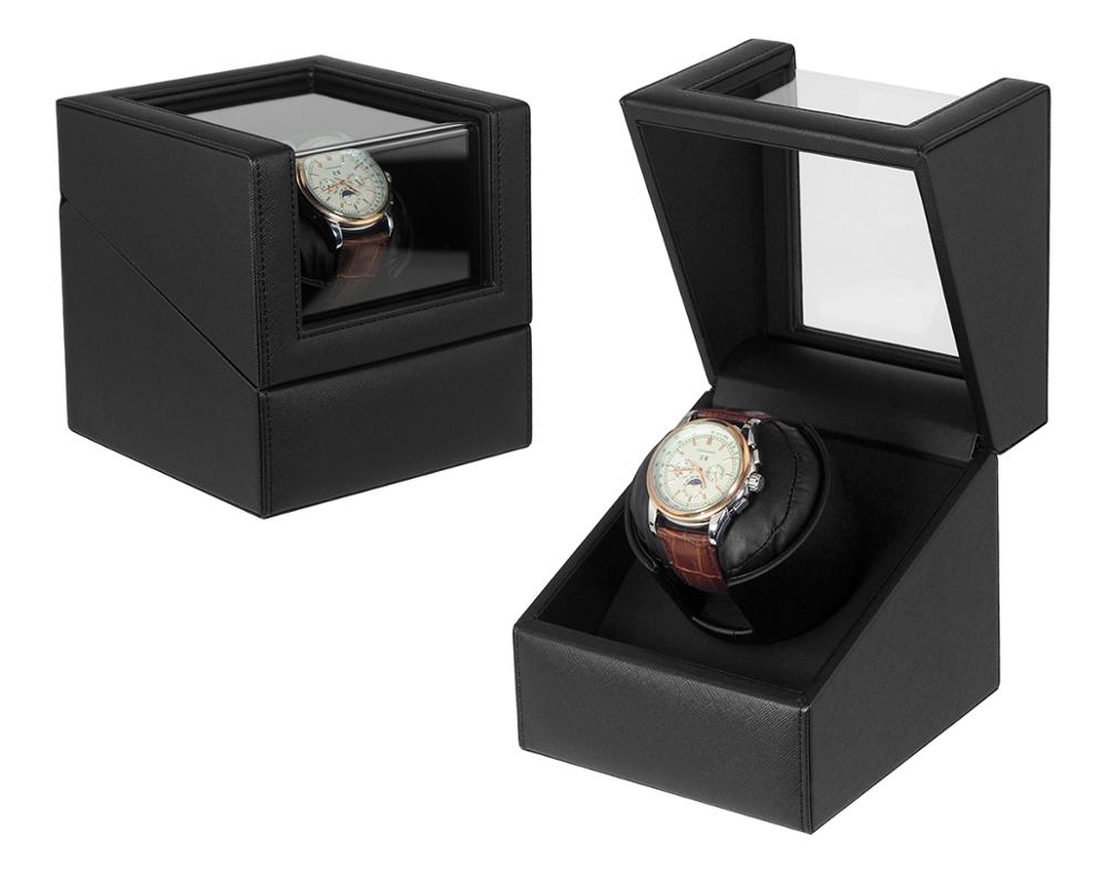 Luxury Single Black 나무 회전 Watch Winder in Stock