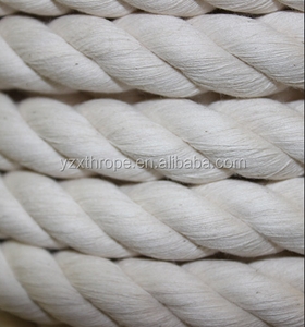 Soft natural 3-strand twisted cotton rope 18mm