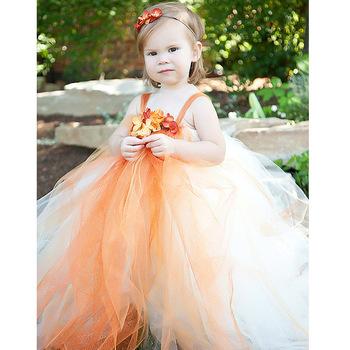 170b1315bf93d 2015 fashion design baby girl flower dress/orange fluffy ball gown tutu  dress for 3