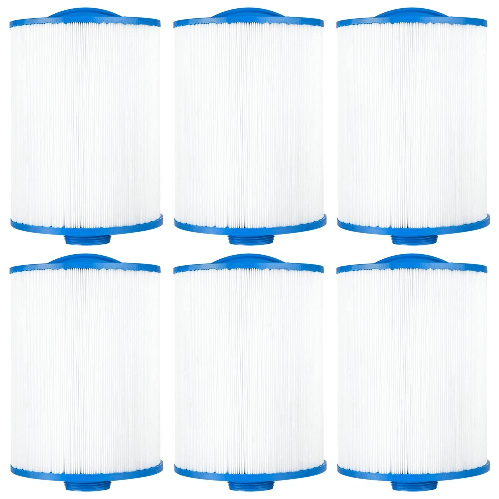 "Clear Choice CCP129 Pool Spa Replacement Cartridge Filter for Sunrise Spa Filter Media, 6"" Dia x 8"" Long, [6-Pack]"