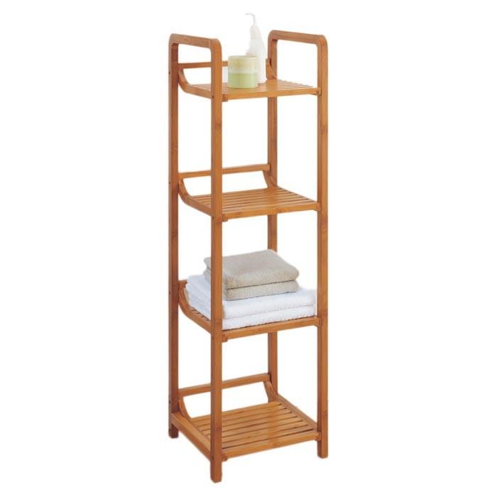 bamboo bathroom shower towel standing shelves 2