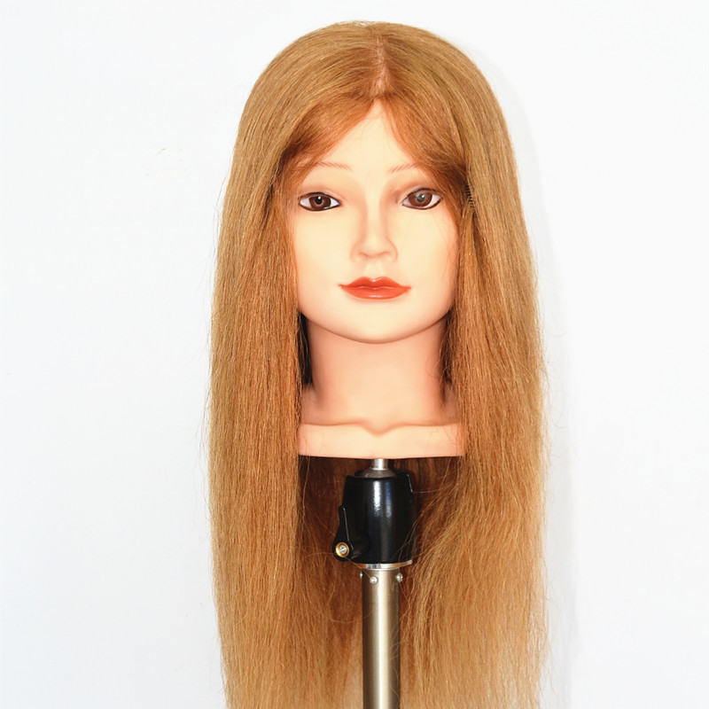hot selling 24 inch blonde 100% human hair mannequin head