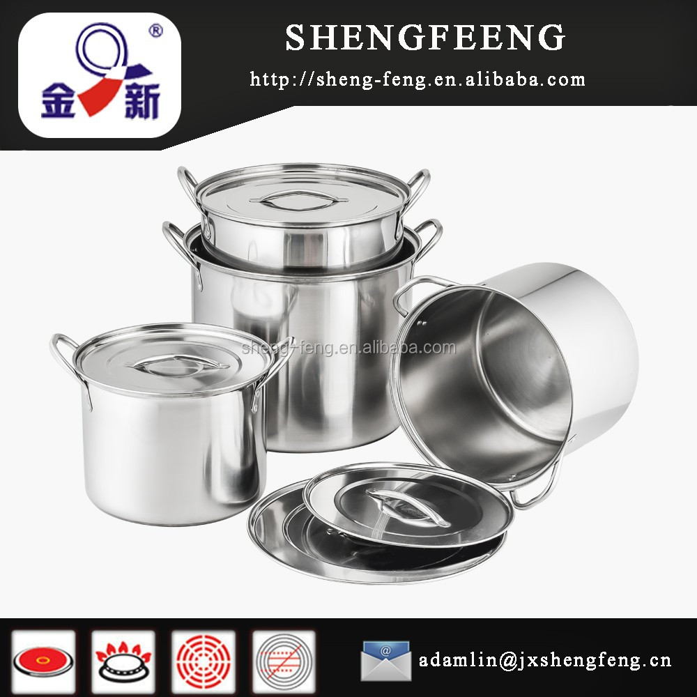 Top 8pcs 555 Stainless Steel Stock Pot/hot New Product For 2015 ...