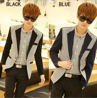 D92753T 2014 UK new style casual men's suit of slim ,casual men suit jacket ,woven sleeve