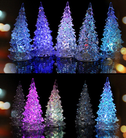 Brand New Colors Changing Creative Christmas Tree LED Night Light Decoration Candle Lamp Nightlight,great gift for kids