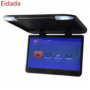 Factory Competitive Price 22 inch TFT LCD Flip Down Roof Mount Monitor with USB HDMI Mirror link for Car