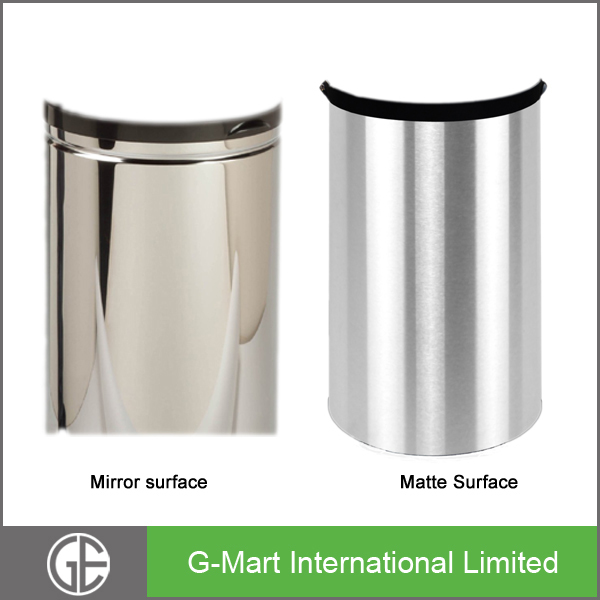 great earth standard size for indoor dustbin,8 gallon polish