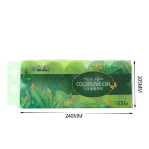Green Tea Fragrance Fashion Embossed Soft Toilet Paper