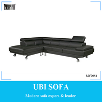 Leather sectional sofa living room furniture MY9054