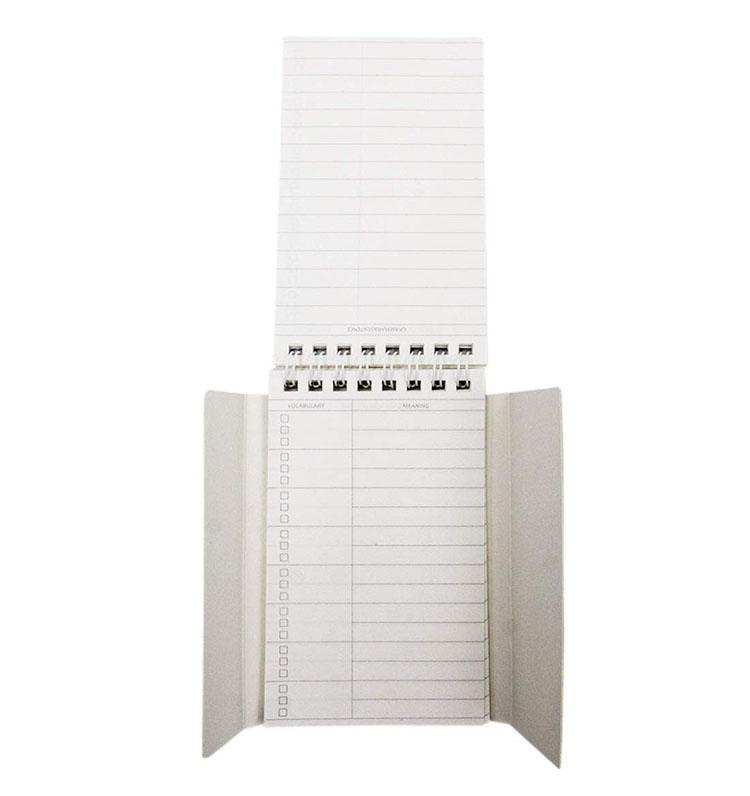 สัตว์น่ารักรูปแบบการพิมพ์ Mini Sprial คำศัพท์ Notepad คำการเรียนรู้ Baffle การเขียนหนังสือโน้ตสำหรับโรงเรียนเครื่องเขียน