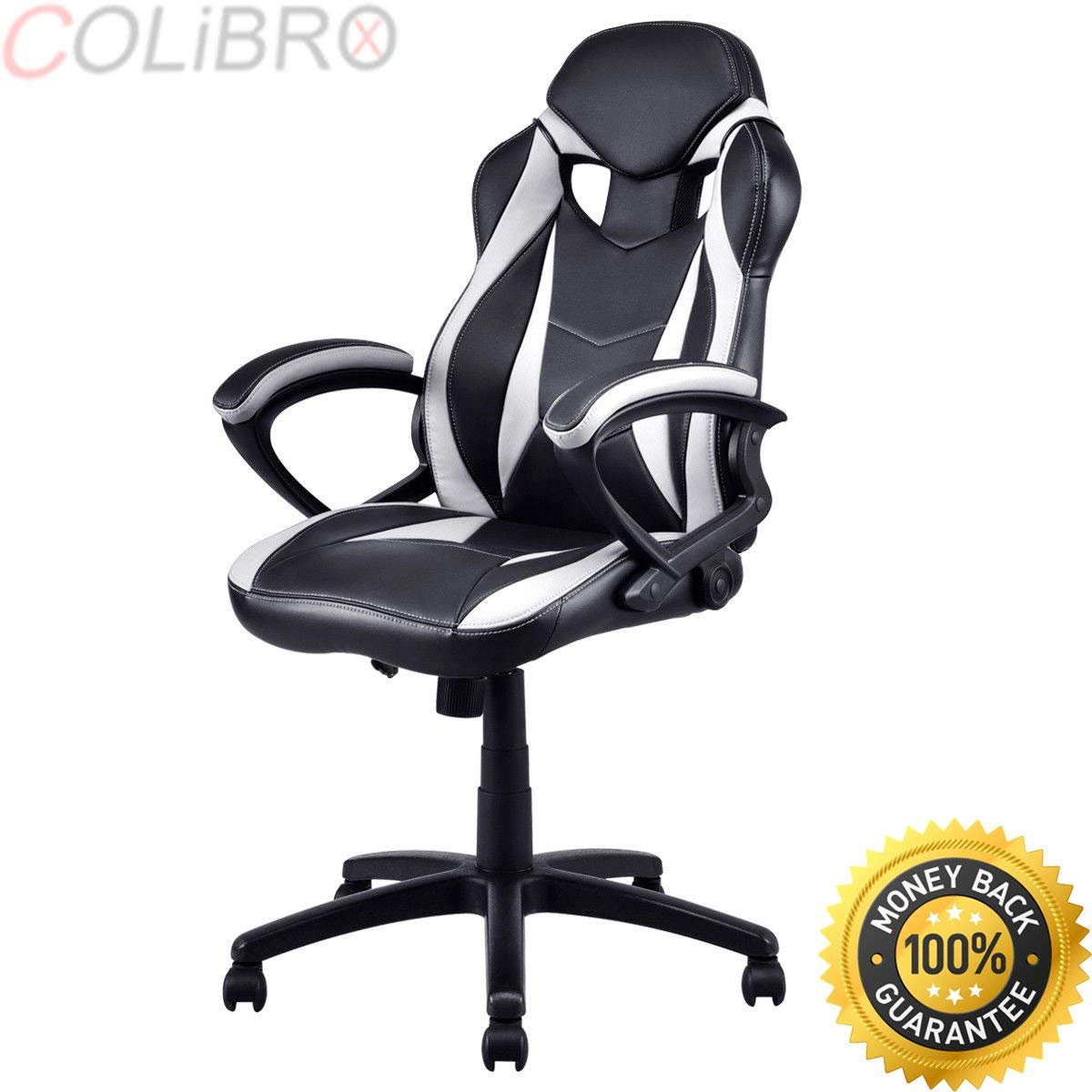 COLIBROX--Executive Race Car Style Chair High Back Bucket Seat Gaming Office Computer New. high back race car style bucket seat office desk chair gaming chair.racing office chair.racing office chair.