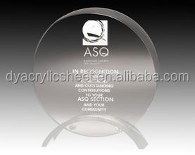 Acrylic awards for prize