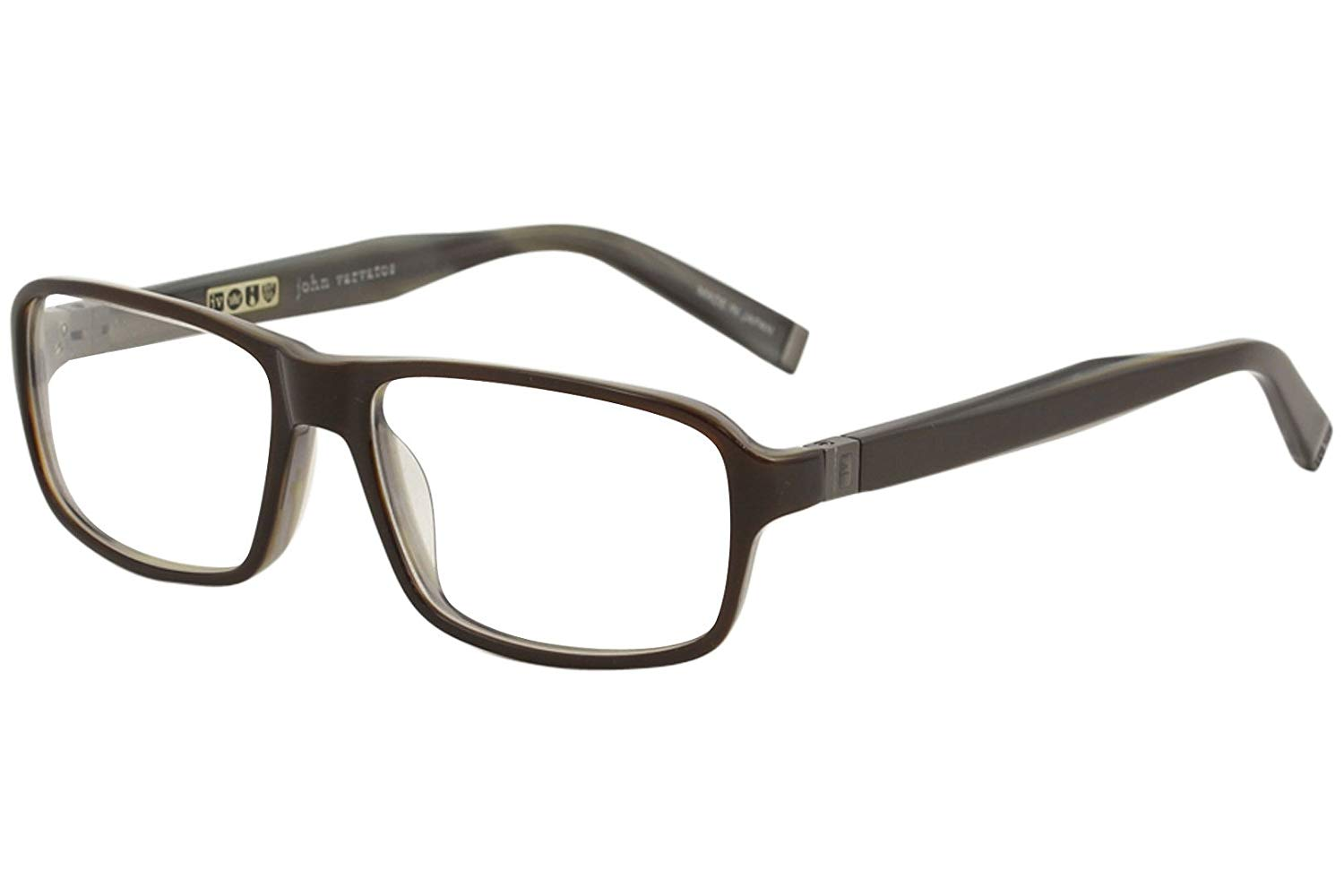 f6c7f68bbacd Get Quotations · John Varvatos V340 Mens Designer Full-rim Flexible Hinges  Eyeglasses Eyewear