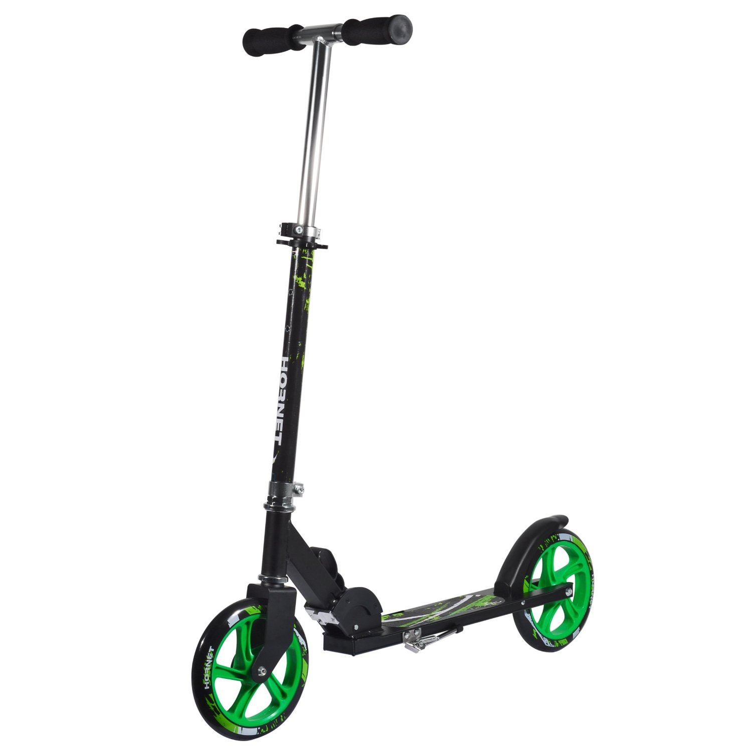 Hudora Hornet Scooter with Neon Green Wheels 205 mm