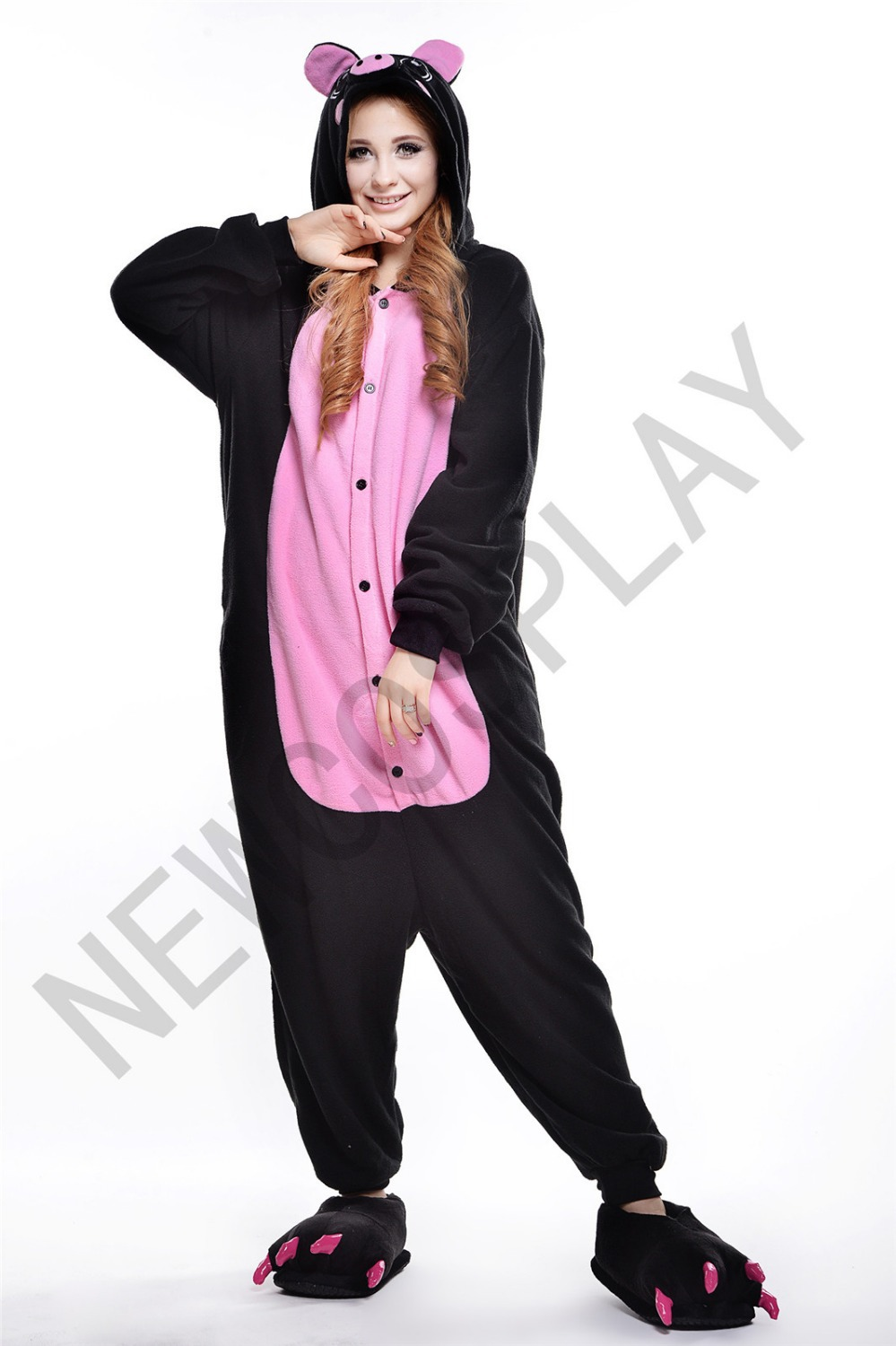 31a8a9c347 Get Quotations · Black Pig Party fleece pajamas Sleepwear Cosplay Adult  Unisex Cartoon Costumes Pajamas
