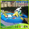 New Point Top Hot Selling Funny Inflatable Water Slide With Water Pool