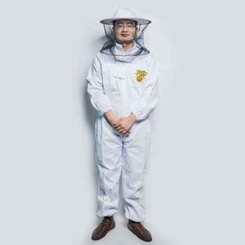 2018 Chinese bee protective clothing factory directly supply ventilated cotton beekeeping clothing for sale