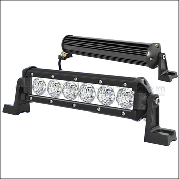 8 Inch 18w Single Row Rechargeable Battery Operated Led Light Bar