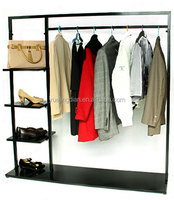 Wrought iron zone plate clothing store showcase shoes shelf hanging bag display rack