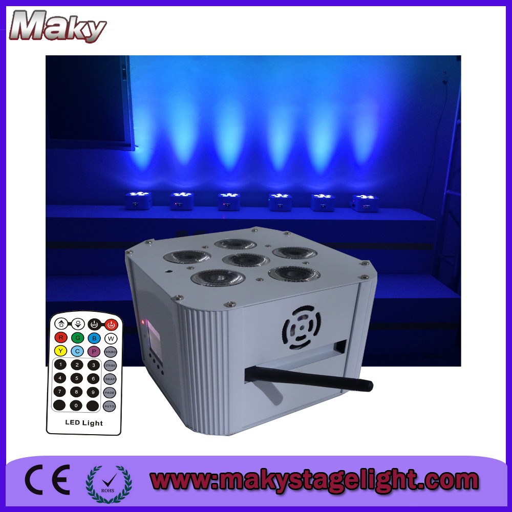 stage lighting equipment 6*15W battery powered led mood party lights