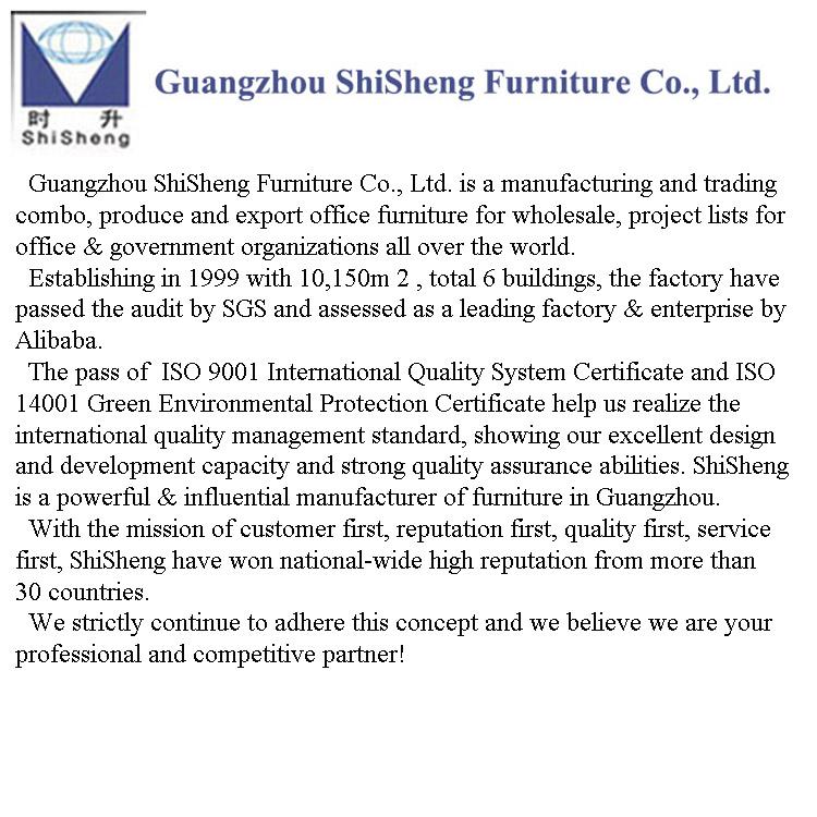 Shisheng Oficina Popular diseño de escritorio partición 4 persona estación de trabajo
