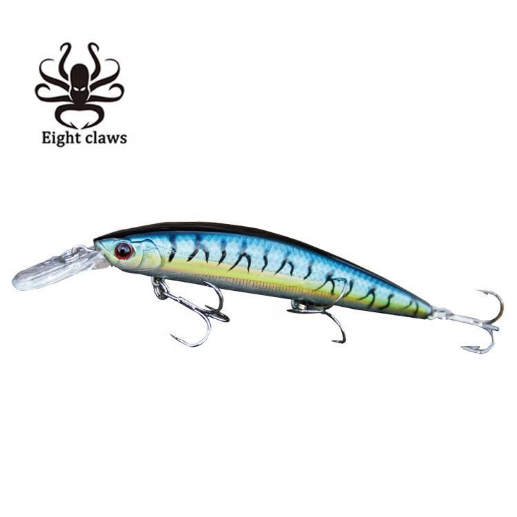 8pcs 6cm//9.8g 6 # hook Fishing lure saltwater bait Minnow Crankbaits water sport