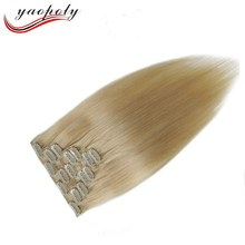 16-24Inch Clip In Human Hair Extensions 7 Pieces Brazilian Remy Hair Clip In Hair Full Head Set 100G Straight
