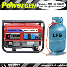 Best Seller!!! POWERGEN Home use Portable Air-cooled Tri-Fuel Gasoline/LPG/Natural Gas Generator 2KW