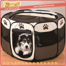 Pet kennels tent ,CC033 folding pet cage , plastic folding dog kennel