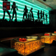Backlit bar and night club/ disco club decoration