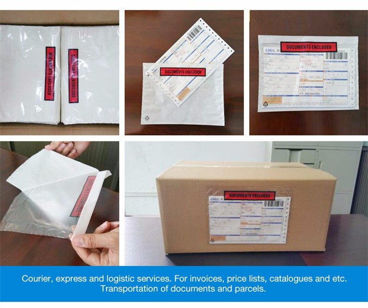 Enclosed envelops packing slip