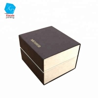 Wholesale OEM watch gift boxes fancy paper watch case box with logo custom