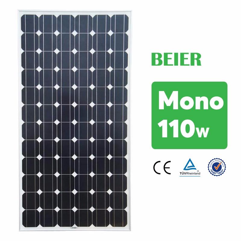 110w Monocrystalline Solar Panel Manufacturer In China Low Price ...