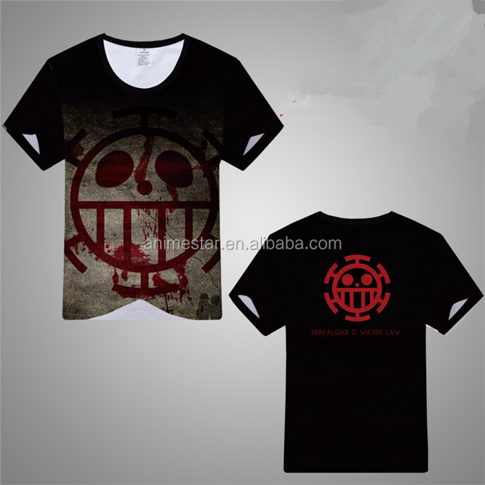 One Piece T shirt 2017 Fashion Japanese Anime Clothing 3D Print Cotton T-shirt For Man And Women