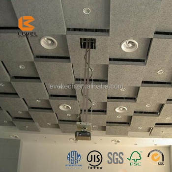 Interior Decoration Soundproof Wood Wool Acoustic Ceiling Tiles Sound  Absorbing Paint