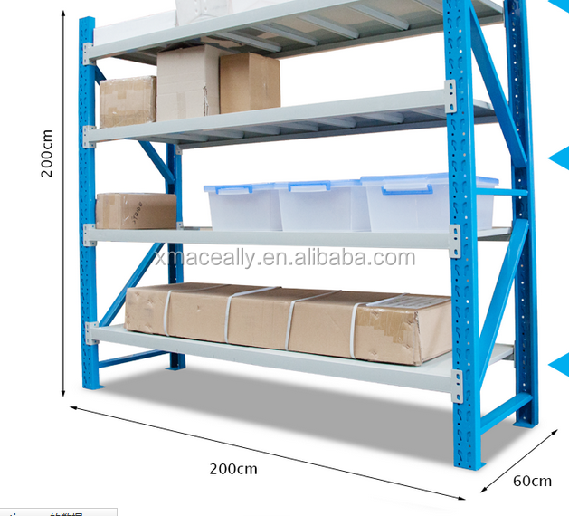 Welded frame Medium duty industrial shelving for Warehouse storage