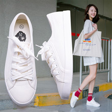 China Factory Cheap Price White Casual Fashion Women Canvas Shoes