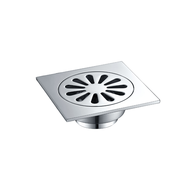 Guangdong factory cheap price copper floor drain with strainer cover