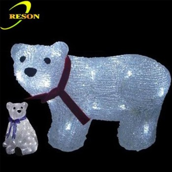 3d led light polar bear christmas outdoor lighted decorations - Outdoor Polar Bear Christmas Decorations