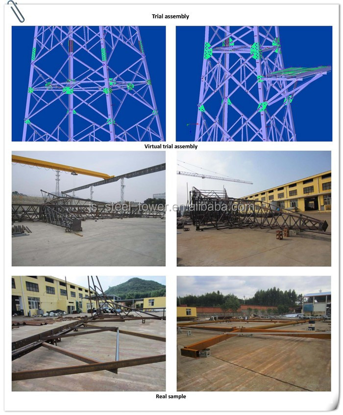 Angle iron tower for telecom and power transmission