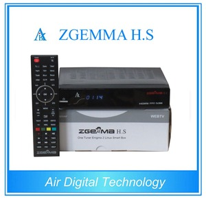 New arrival DUAL CORE ZGEMMA H S DVB-S2 tuner built-in satellite tv  receiver support SD card