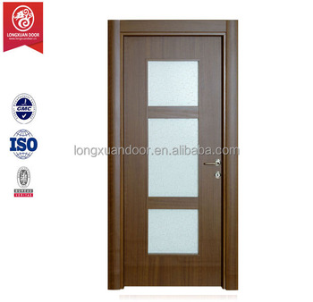 Modern single door designs with glass for Office main door design