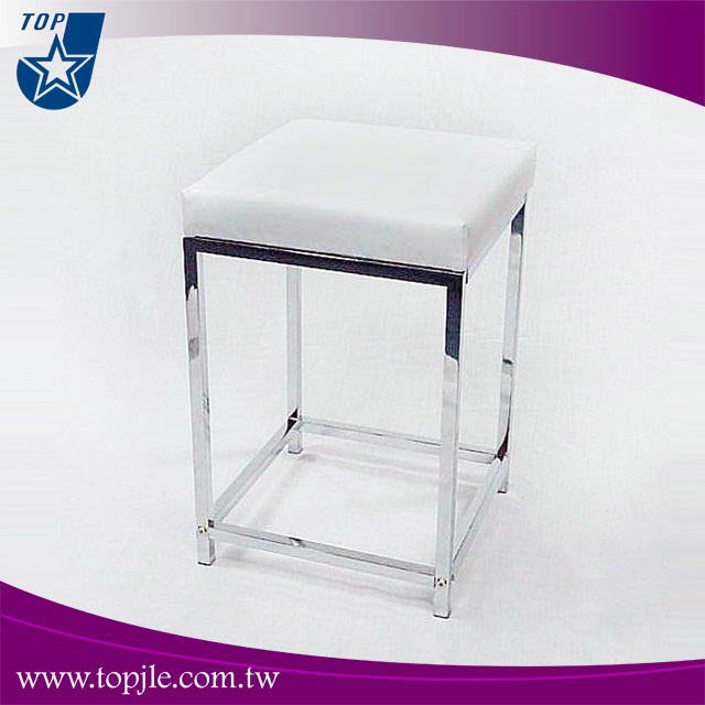 Hot Koop Vierkante Metalen Frame Pvc Badkamer Lederen Stoel - Buy ...