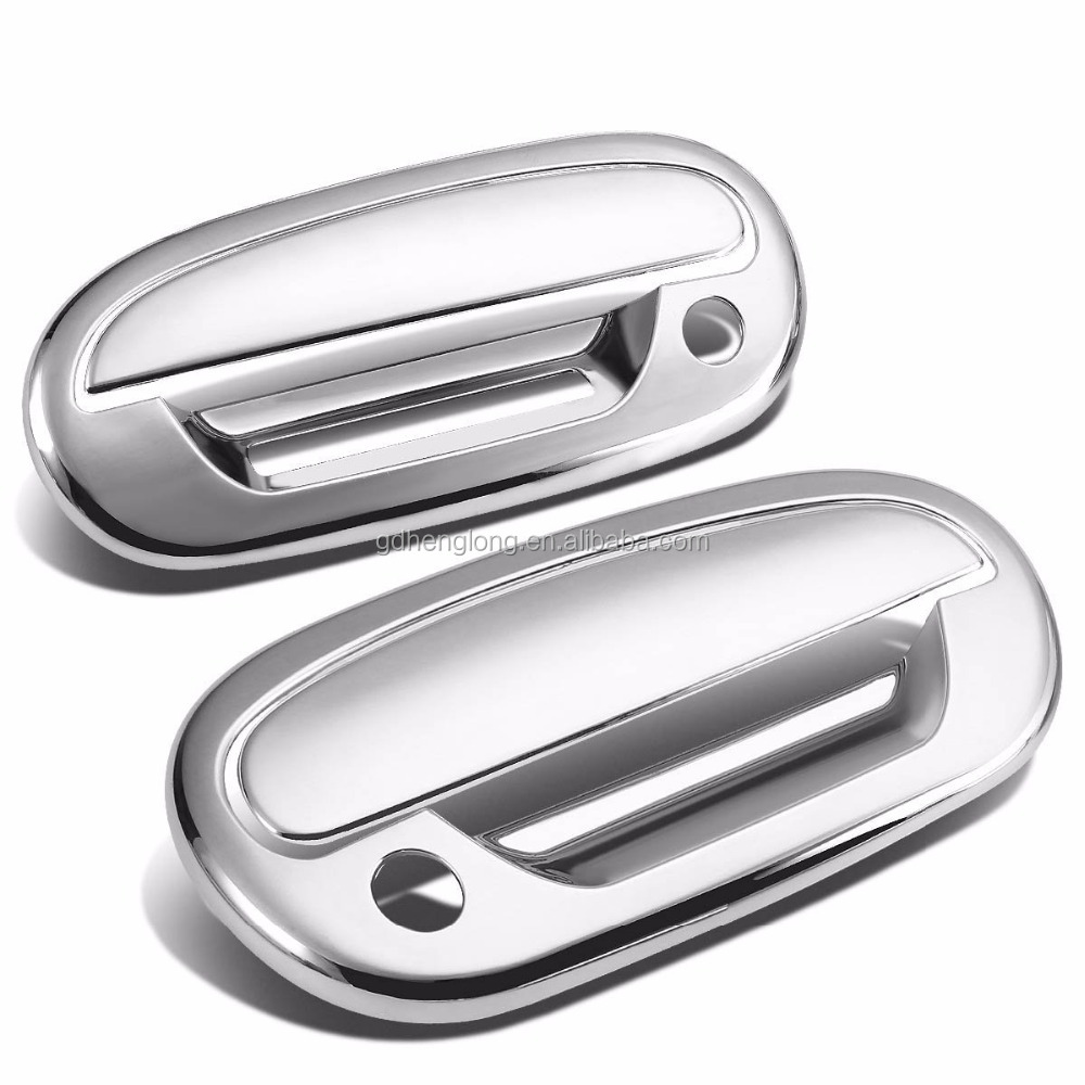For 1997-2003 Ford F150 Chrome Door Handle Covers 2D W/ Passenger Side Key Hole, W/ Keypad