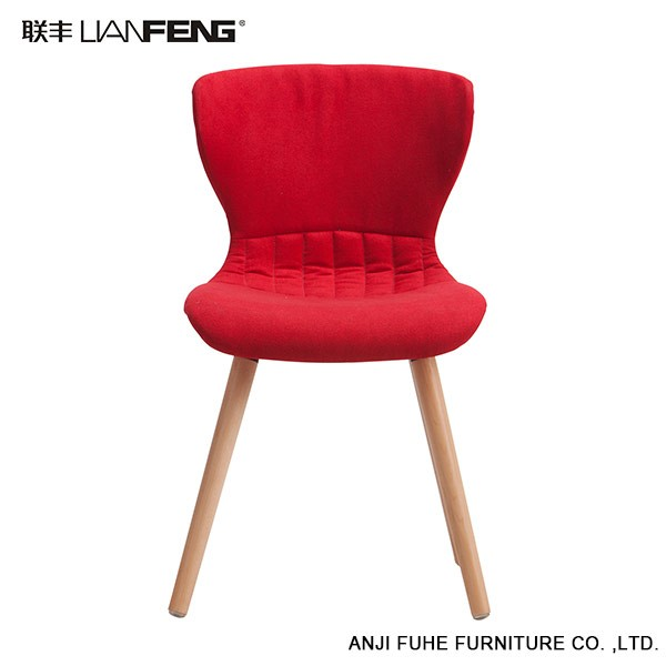modern simple red bar chair with sturdy wooden base bar furniture bar