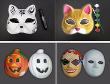 Shock-proof white paper half face decorative halloween carnival party mask