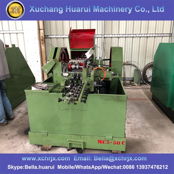 Factory Auto cold heading and threading rolling machine screw making machine