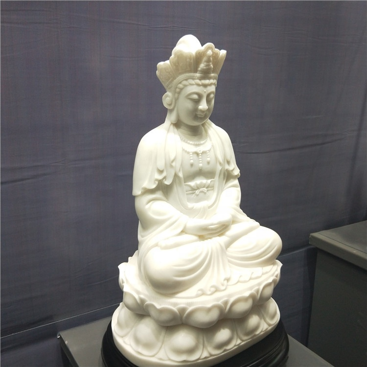 Natural White Marble Figures Buddha Statue